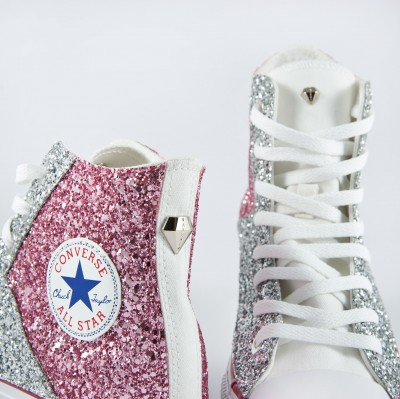 Converse 2016 Dejavu HI Silver Pink